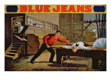 The Great Saw Mill Scene', Poster for 'Blue Jeans' Reproduction procédé giclée par American School