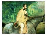 Portrait of Gillaudin on a Horse Giclee Print by Édouard Manet