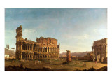 Colosseum and Arch of Constantine, Rome Giclee Print by  Canaletto