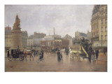 La Place Clichy, Paris, 1896 Giclee Print by Edmond Georges Grandjean