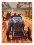 Men and Motors: Race Track Pioneers Giclee Print by Roy Nockolds