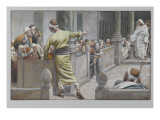 The Healed Blind Man Tells His Story to the Jews Giclee Print by James Jacques Joseph Tissot