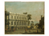 A Capriccio of Buildings in Whitehall, C.1754 Giclee Print by  Canaletto