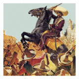 Zapata! the Bandit Who Ruled Mexico Giclee Print by McConnell