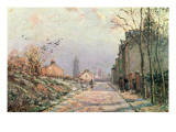 The Road, Effect of Winter, 1872 Giclee Print by Camille Pissarro