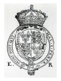 Coat of Arms of Queen Elizabeth I Giclee Print by  English School