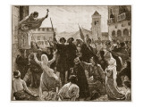 St. Bernard Preaching the Second Crusade Giclee Print by James Archer