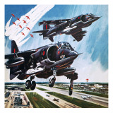 International Air Tattoo of 1976 Giclee Print by Wilf Hardy