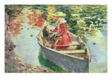 Miss Motes and Her Dog Shep, 1893 Giclee Print by Theodore Robinson