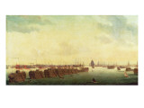 Prison Hulks in Portsmouth Harbour Giclee Print by Ambroise-Louis Garneray