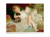 Playmates, from the Pears Annual, 1903 Giclee Print by Emile Munier