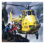 Search and Rescue, from 'Into the Blue' Giclee Print by Wilf Hardy