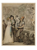 The Sculptor's Workshop: Buying Casts, 1802 Giclee Print by  Rowlandson