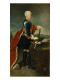 The Crown Prince Frederick Ii, C.1736 Giclee Print by Georg Wenceslaus von Knobelsdorff
