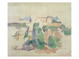 House on a Hill Close to Aix En Provence Giclee Print by Paul Cézanne