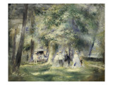 In the Park at Saint-Cloud, 1866 Giclee Print by Pierre-Auguste Renoir