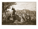 Whitefield Preaching in Moorfields Premium Giclee Print by Eyre Crowe