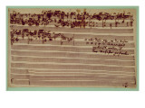 Last Page of the Art of Fugue, 1740S Premium Giclee Print by Johann Sebastian Bach