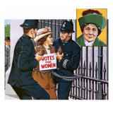 Suffragettes, with Emmeline Pankhurst Giclee Print by John Keay