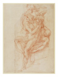Study of Lazarus and Two Attendant Figure Giclee Print by  Michelangelo Buonarroti