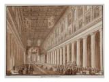 The Basilica of Santa Maria Maggiore, 1833 Giclee Print by Agostino Tofanelli