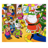 Mr Toad Giving Out Christmas Presents Giclee Print by English School