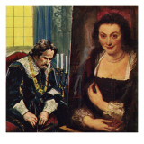 Rubens with a Portrait of His Dead Wife, Isabella Giclee Print by English School 
