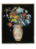 Large Bouquet on a Black Background, C.1910 Giclee Print by Odilon Redon