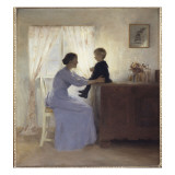A Mother and Child in an Interior, 1898 Giclee Print by  Ilsted