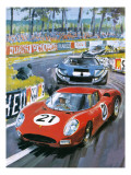 Jochen Rindt Driving a 250 Lm Ferrari Giclee Print by Graham Coton