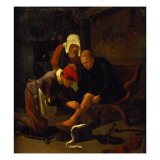 A Village Doctor Tending a Peasant's Shin Giclee Print by Jan Havicksz. Steen