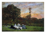 The Manet Family Picnicking, 1866 Giclee Print by Eugène Boudin