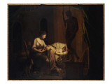 Penelope Unravelling Her Web Giclee Print by Joseph Wright of Derby