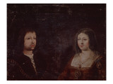 Ferdinand Ii of Aragon and Isabella I of Castile Giclee Print by  Spanish School