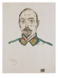 Portrait of a First Officer, 1916 Giclee-vedos tekijänä Schiele