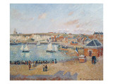 The Outer Harbour at Dieppe, 1902 Giclee Print by Camille Pissarro