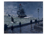 The Jetty at Le Havre, Bad Weather, 1870 Giclee Print by Claude Monet