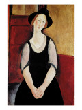 Portrait of Thora Klinchlowstrom Giclee Print by Modigliani 