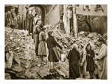 Trummerfrauen Clear Rubble in Berlin, 1945 Lámina giclée