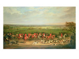 Queen Victoria Riding with the Quorn Premium Giclee Print by Sir Francis Grant