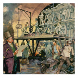 Brunel Supervising Tunnel Construction Giclee Print by  McConnell