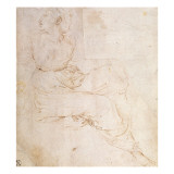 Study of Erato, for 'The Parnassus', 1510-11 Reproduction procédé giclée par  Raphael
