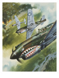 Famous Aircraft and their Pilots Giclee Print by Wilf Hardy