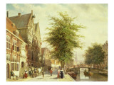 The Oude Zijds Voorburgwal in Amsterdam Giclee Print by Cornelis Springer