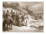 Harold Taken Prisoner by the Count of Ponthieu Giclee Print by Edouard Zier