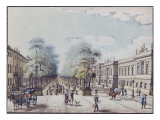 The Linden with the Academy, Berlin Giclee Print by F.A. Calau