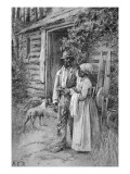 Field Workers Oustside their Cabin, 1886 Giclee Print by  American School
