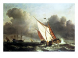 Dutch Shipping Offshore in a Rising Gale Giclée-Druck von Willem Van De, The Younger Velde