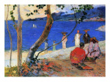 Seashore, Martinique Island, 1887 Premium Giclee Print by Paul Gauguin