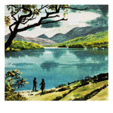Lakes of Killarney, Country Kerry Giclee Print by  English School